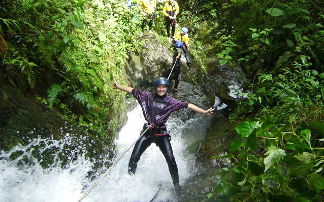 Canyoning in Ecuador