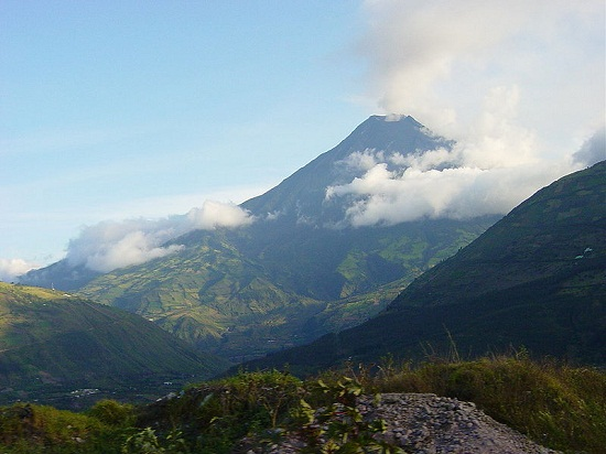 The Tungurahua volcano, just outside of Banos, Ecuador.