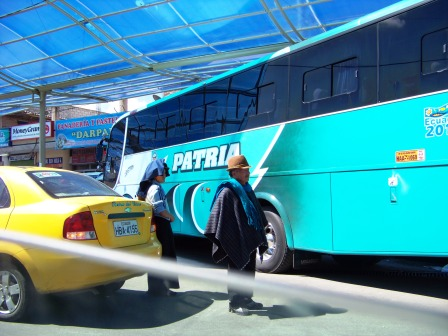 The newer bus models in Ecuador.