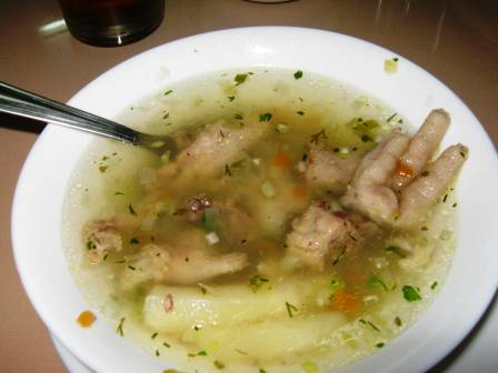 Chicken foot soup, Ecuador