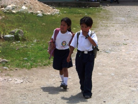 School kids in Tena