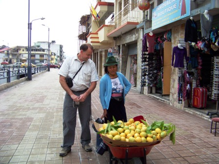 Dad checking out the mangoes