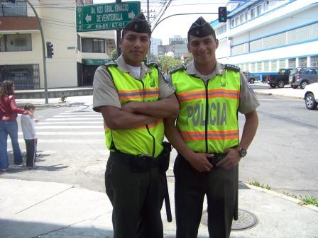 Policemen, Quito, Ecuador