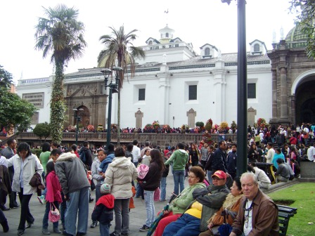 Visit Quito. One of the highest capitals in the world.