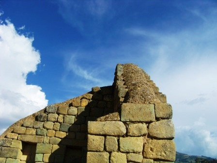The Temple of the Sun at Ingapirca.
