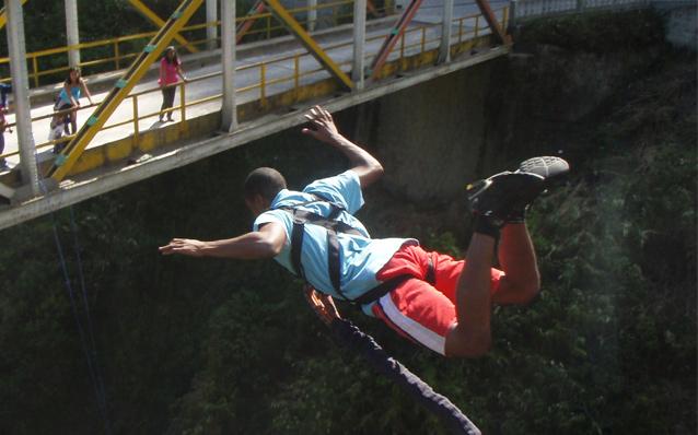Puenting in Ecuador