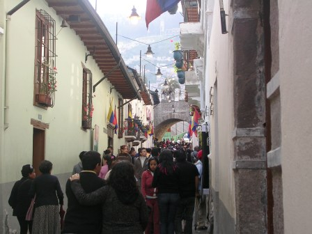 Fiestas of Quito on the famous La Ronda Street