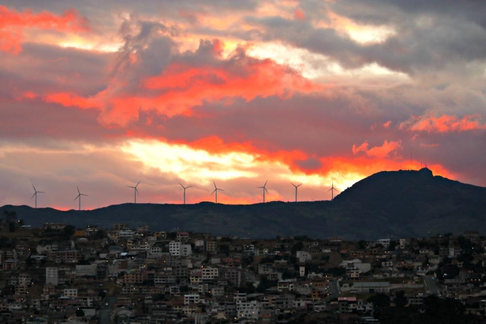 Sunset over Loja Ecuador