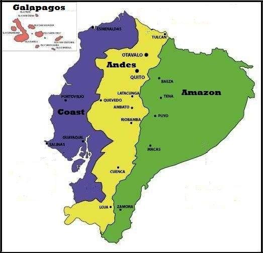 ecuador regions map