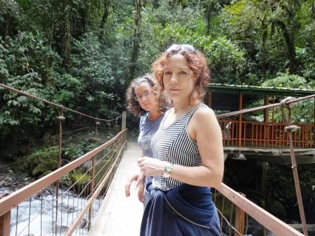 With my mom in Mindo, Ecuador