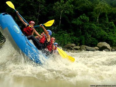White water rafting with Geotours