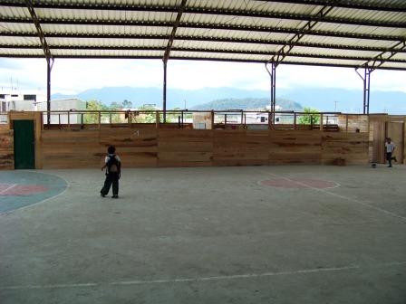 Makeshift extra classroom in Ecuador
