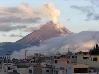 Tungurahua as seen from Ambato, Ecuador