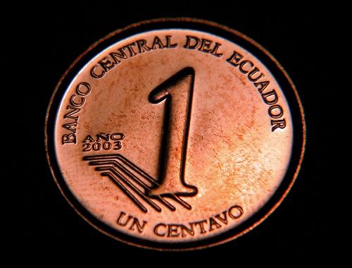 A penny in Ecuador.