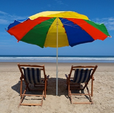 Sit back and relax on the beach in Ecuador.