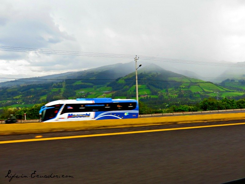 Bus through Ecuador