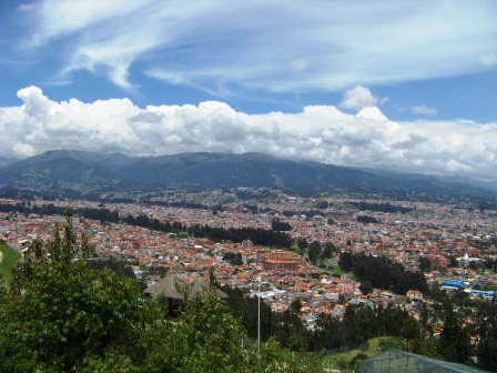 View of Cuenca Ecuador from the Turi Lookout