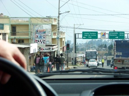 Driving in Ecuador