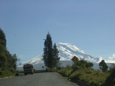 Mount Chimborazo... on the road near Guaranda
