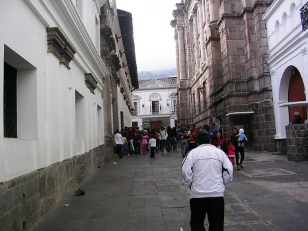 The streets of Quito