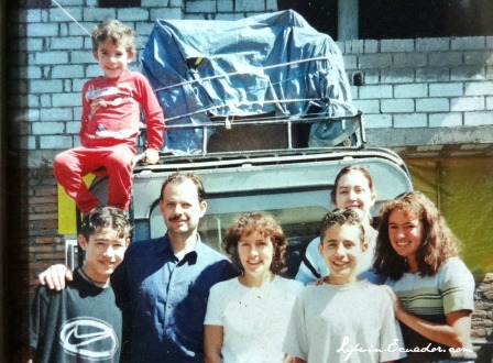 With my family just outside of Quito, Ecuador in 1998