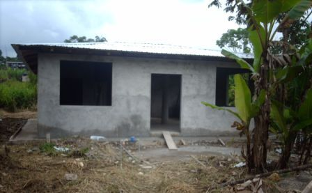 The shell of our home in Ecuador.