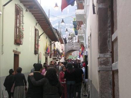 Fiestas of Quito on the famous La Ronda Street