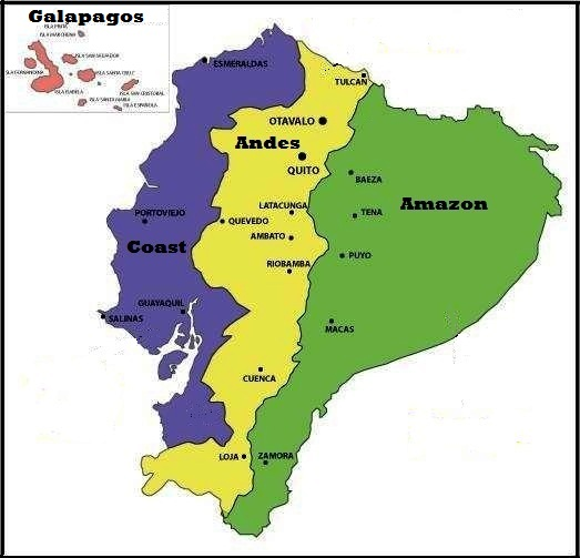 ecuador regions map