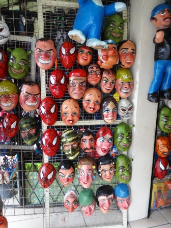 Masks for New Years in Ecuador