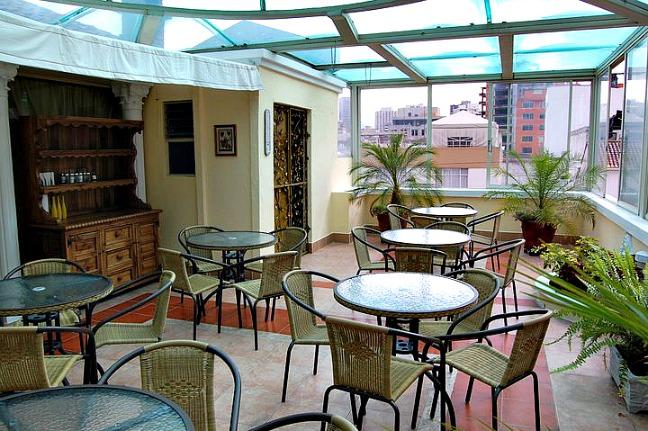 Roof-top terrace. City Art Hotel Silberstein