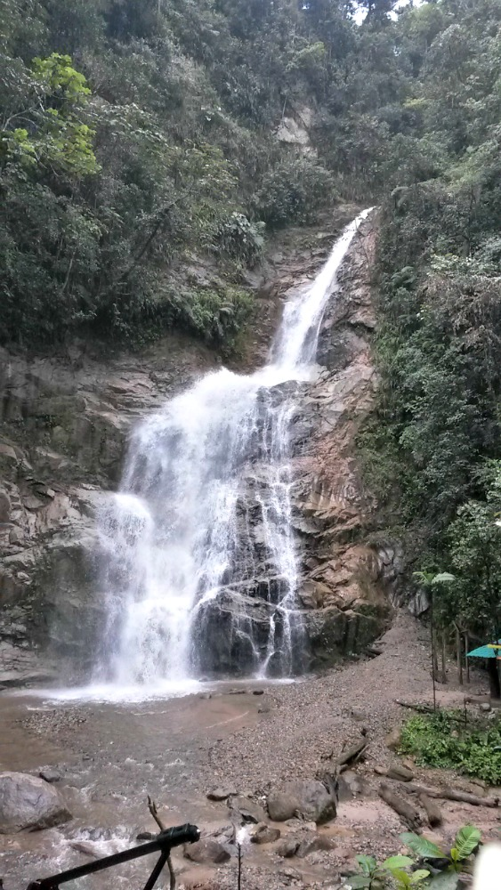 Waterfall La Poderosa - Zamora Ecuador